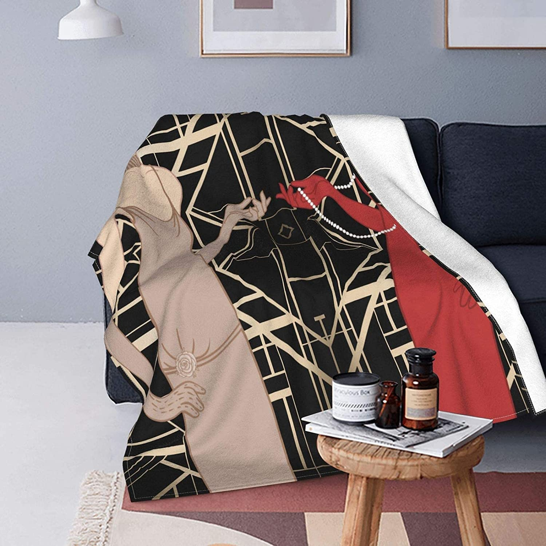 Soft Micro Fleece Throw Blanket Girl Decor Roaring Home Max 61% OFF shop Flapper