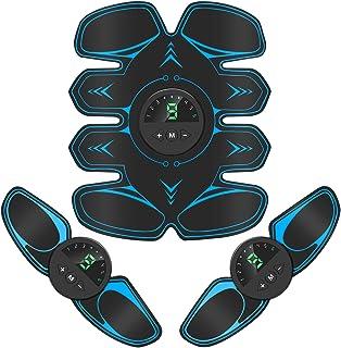 Bicidi 【2021モデル】EMS 腹筋ベルト USB充電式 腹筋トレーニング 6種類モード 9段階強度調整 液晶表示 筋トレ器具 家トレ 男女兼用 日本語説明書