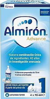 Almirón Advance 1 Minibiberones Leche de Inicio a Partir del Primer Día - Caja con 4 Minibiberones x 70 ml