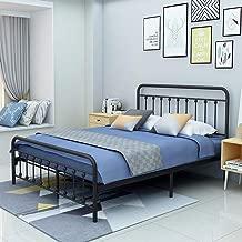 metal bed frame queen black