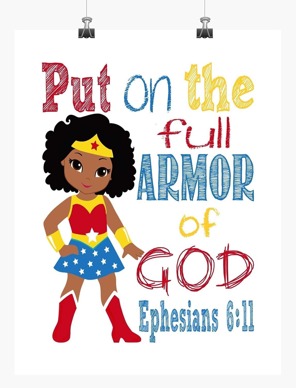 African Max 54% OFF American Wonder Woman De Nursery Superhero Courier shipping free shipping Inspirational