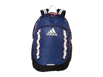 adidas Excel V Backpack (Tech Indigo/Black/Signal Pink/Dash Green) Backpack Bags