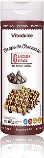 comprar comparacion Sirope de chocolate sin azúcar, Topping de chocolate, Sirope bajo en calorías 400 gr - Vitadulce