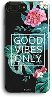 Compatible iPhone 5S Case,Flowers Girly Aloha Love Summer Tropical Banana Bahama Leaves Floral Good Vibes Only Palm Tree Beach Hawaii Vintage Roses Blossom Girls Clear iPhone 5S/iPhone SE Case