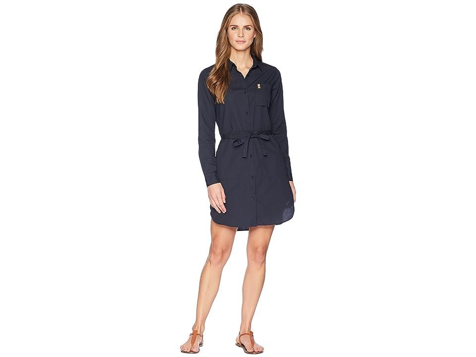 Fjallraven Ovik Shirtdress (Dark Navy) Women's Dress