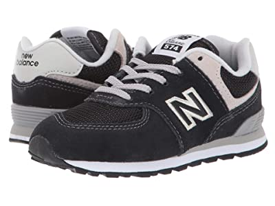 New Balance Kids K574v1I (Infant/Toddler) (Black/Grey) Boys Shoes