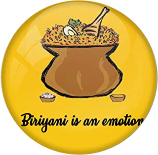 AVI Fridge Magnet with Yellow Colour Biriyani is an Emotion 58mm Design MR8000499