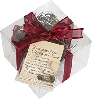 Cottage Garden Legend of Nest Inspirational Red and Brown Gift Box with Ribbon and Tag