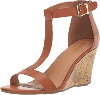 Kenneth Cole Reaction Womens LRS9005SO Ava Great T-Strap Wedge Sandal Brown Size: 6.5 US