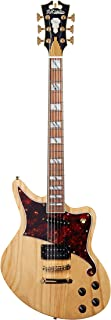 D'Angelico Deluxe Bedford Electric Guitar - Natural Swamp Ash