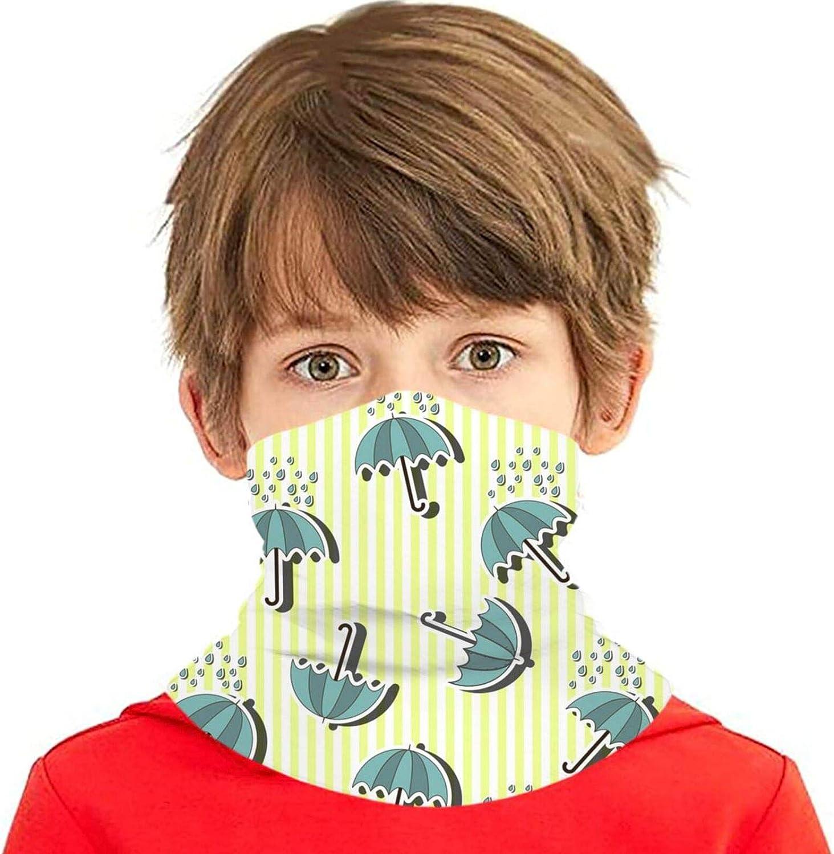 rerw Children Headwear Face Mask Rain Max 77% OFF with Umbrella Atlanta Mall 3D P Stripes