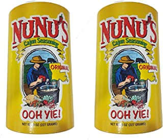 NuNu's Original All Purpose Cajun Seasoning, 8 Ounce Shaker (Pack of 2)