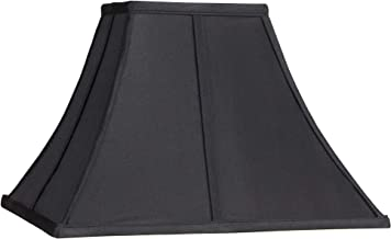 Square Curved Black Lamp Shade 6x14x9 1/2 (Spider) - Springcrest