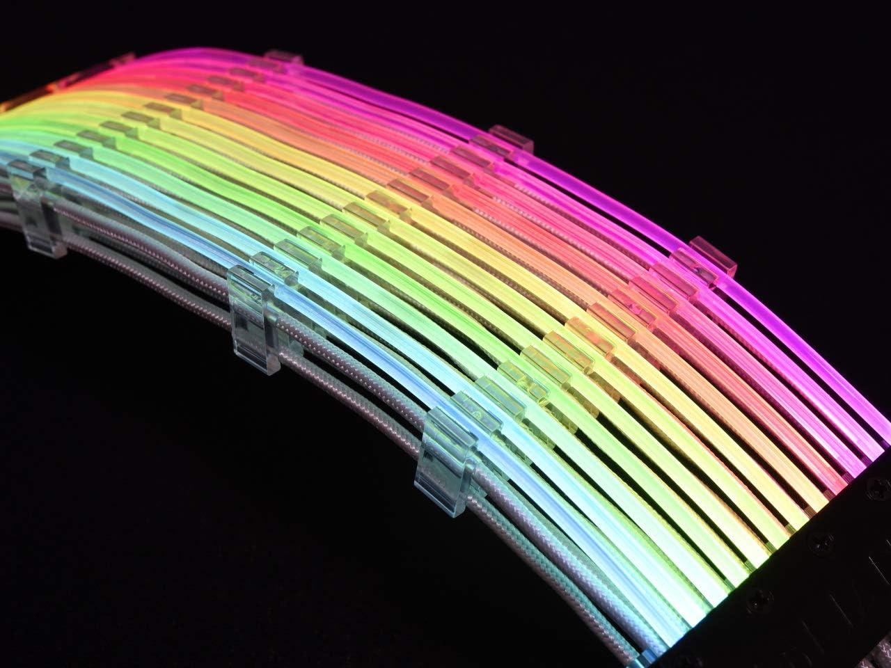 Albuquerque Mall Lian Li Strimer RGB 5% OFF PSU Cable Strimmer 24 Pin black