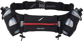 Fitletic Hydra 16 Hydration Belt   Patented No Bounce Technology for Marathon, Triathlon, Ironman, Trail, 5K, 10K   Running Belt   Range of Sizes & Colors   HD08 V1