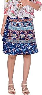Women's Cotton Printed Knee Length Regular Wrap Around Skirt (W20NT_0003)