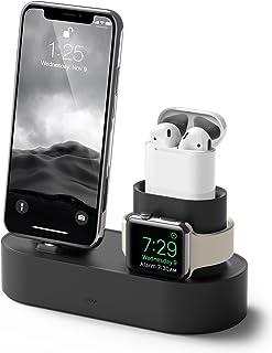 elago 3 en 1 Soporte Apple Watch Base de Carga Compatible con Apple Watch Series SE,6/5/4/3/2/1, AirPods 2/1, iPhone 11 y ...