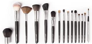 Vanity Planet Palette Professional Makeup Brush - Soft Synthetic Bristles, Black Set - Pack of 15