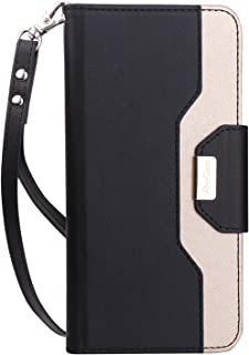 ProCase Google Pixel 2 Wallet Case, Flip Kickstand Case with Card Slots Mirror Wristlet, Folding Stand Protective Cover for Google Pixel 2 (2017 Release) -Black