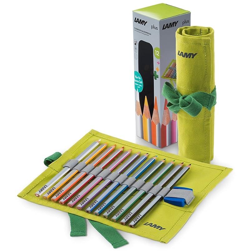 摂氏度割り当てます信じられない【LAMY/ラミー】plus/プラス ロールペンケース付色鉛筆12色セット