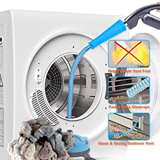 PetOde Dryer Vent Cleaner Kit Dryer Vent Vacuum Attachment Lint Remover Power Washer and Dryer Vent Vacuum Hose