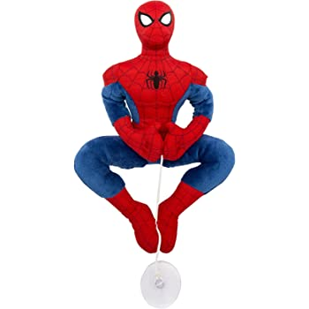 Joy Toy 1200048 25 cm Red Spiderman Plush Toy with Suction Cup for Windows and Cars
