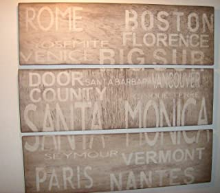 Blanche989 Rustic Subway Panel Sign Customized to Any Cities You choosehome Decor