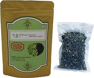 dhaani naturals Green Cardamom Seeds 50 gm Pesticide Free Farm Direct Premium Quality