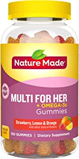 Nature Made Women's Multivitamin + Omega-3 Gummies, Value Size, 150 Count