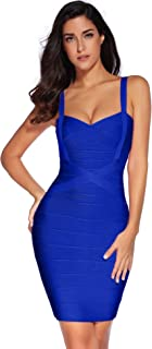 Women's Celebrity Bandage Bodycon Dress Strap Party Pencil Dress