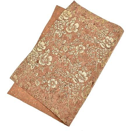 cork leather vegan vegan leather natural cork cork portuguese cork fabric marbled brown 40 x 60 cm cork fabric cork textile DIY