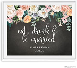 eat drink and be married chalkboard