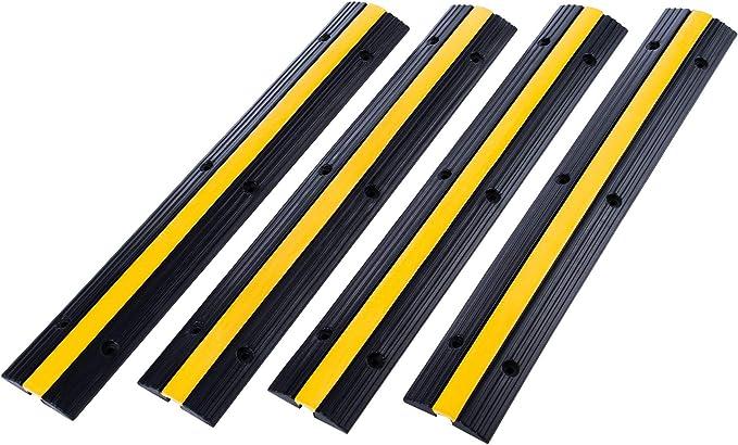 12 opinioni per Valens Passacavo a Pavimento in Gomma Protezione Cavo a Pavimento Rampa Modulare