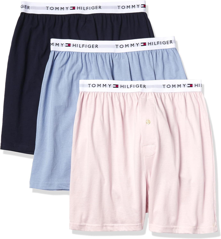 Tommy Hilfiger Men's Underwear 3 Pack Cotton Classics Knit Boxers
