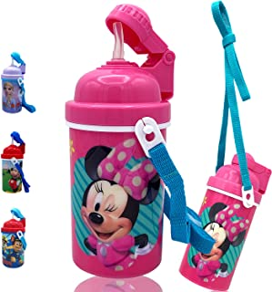 GRANSHOP Zak Designs Disney Classic Minnie Carrying e Touch Water Bottles with Reusable Built in Straw - Safe Approved BPA...