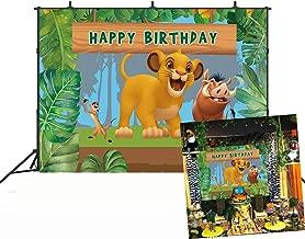 GYA 7x5ft Lion King Baby Simba Backdrop Background Kids Childrens Boys Birthday Party Photography Photo Vinyl Decoration