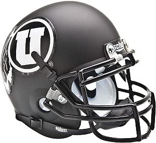 Utah Utes Schutt Black Matte Mini Football Helmet - College Mini Helmets