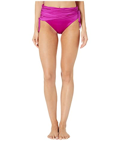 Stella McCartney Charms Draped High-Waist Bikini Bottom (Bright Purple) Women