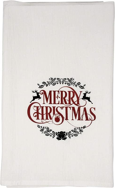 Nino And Baddow Merry Christmas Funny Dishcloth Tea Towel Screen Printed Flour Sack Cotton Kitchen Table Linens