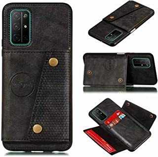 for Huawei Honor 30S Leather Case with card slot Hidden car magnet Wallet phone Cover RFID Blocking Credit Card Holder PU+...