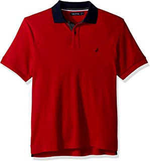 Nautica Men's Classic Fit Short Sleeve Polo Shirt With Contrast Trim
