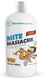 Element Mite Massacre 32 oz. Spider Mite Killer and Powdery Mildew Fighter - Makes 32 GALLONS of Spray …