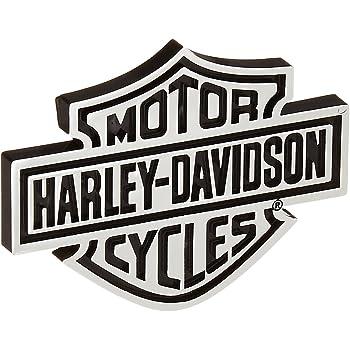 2X Silver Lolosale Custom Harley Bedside Davidson EMBLEM 3D BLACK BADGES For F150 F250 F350
