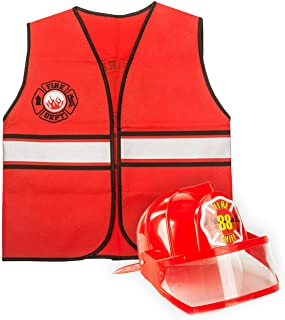 Tigerdoe Fireman Costume - Firefighter Dress Up - Fire Toys - Dress Up Accessories