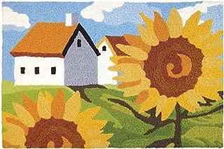Jellybean Sunflowers On The Farm Garden Indoor/Outdoor Machine Washable 21