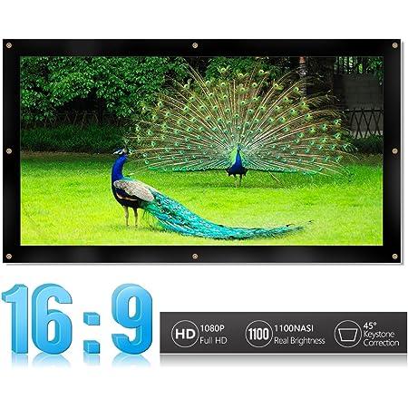 9 da 100 Pollici per Home Theater allaperto Lepeuxi Schermo di proiezione Portatile HD Schermo di proiezione Durevole Spesso Piegato 16