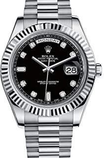 Day Date II Automatic Black Dial 18kt White Gold Mens Watch 218239BKRP