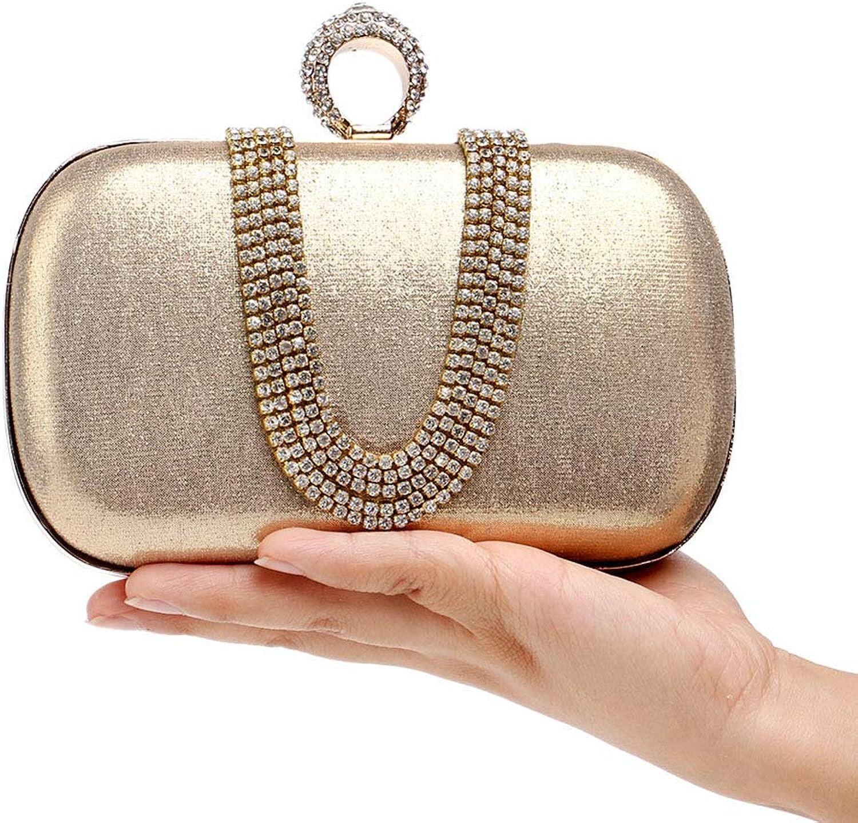 Women's Evening Bag, Women's UShaped Party Bag, Bridal Wedding Clutch, Prom Bag, Wallet, Nightclub Bag