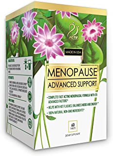 Actif Organic Menopause Advanced Support with Organic Vitamins and Herbs - Non GMO, Fast Acting, Made in USA, 60 Count