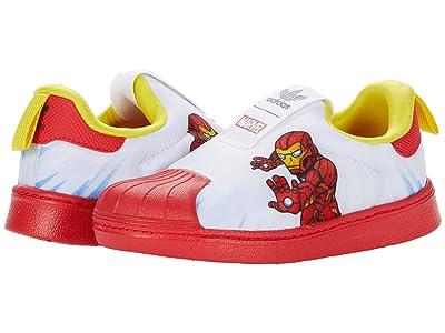 adidas Originals Kids Superstar 360 (Toddler) (White/Vivid Red/Yellow) Kid